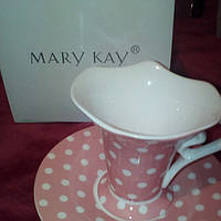 Чашка и блюдце фарфоровые Mary Kay (Америка)
