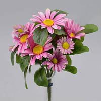 Букет ярко розовых ромашек 26 см Цветы искусственные