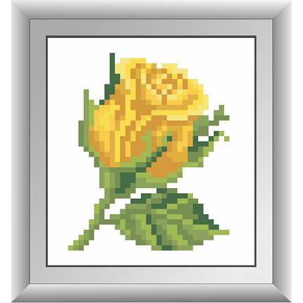 """Набор алмазной живописи """"Желтая розочка"""", фото 2"""