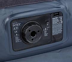Надувная кровать со встроенным насосом Intex 64122 99х191х42см, фото 2