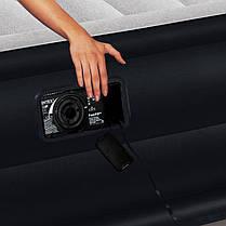 Надувная кровать со встроенным насосом Intex 64122 99х191х42см, фото 3
