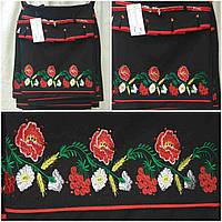 Детская юбка баска с вышивкой гладью, черный, рост 122-146 см., 275/215 (цена за 1 шт. + 60 гр)
