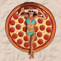 Пляжная подстилка / Пляжный коврик  / Пляжное полотенце / Парео Пицца 143 см