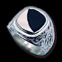 Серебряное мужское кольцо арт 505