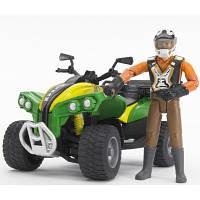 Игрушка Bruder - квадроцикл + фигурка водителя, 63000