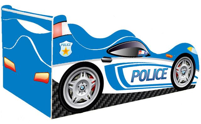 Кровать Полиция синяя