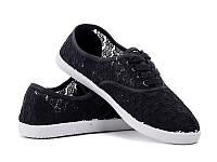 Женская обувь оптом. Женские кеды оптом от фирмы Violeta 64-07 Black (6пар, 36-41)