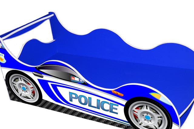 Кровать Полиция синяя 2