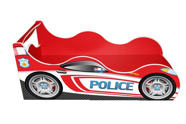 Кровать Полиция красная