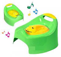 Горшок музыкальный лягушка с крышкой