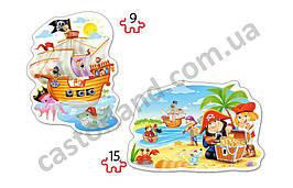 Пазлы Castorland Contour 020010 28*20 Пиратский клад
