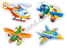 Пазлы Castorland 005048 Самолетики 9-6-4-3