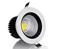LED светильник встраиваемый LEDMAX  COB 30W 6500K 2400Лм круг