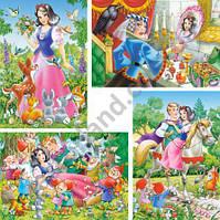 Пазлы Castorland 04423 Белоснежка и семеро гномов 20-15-12-8