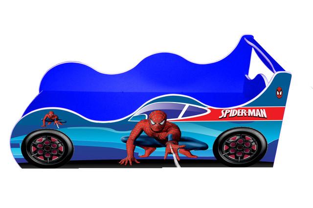Кровать Спайдермен синяя