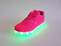 Кроссовки LED светящиеся, с подзарядкой, на шнуровке