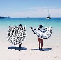 Пляжная подстилка / Пляжный коврик  / Пляжное полотенце / Парео Мандала 150-160 см