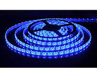 Светодиодная лента 3528 Синия, 5 метров 300 светодиодов 60RW 24W с силиконом