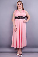 Грация. Нарядное платье больших размеров. Розовый.