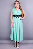Грация. Нарядное платье больших размеров. Мята.