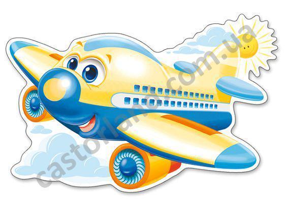 Пазлы 12 элементов Castorland Maxi 120031 Самолетик