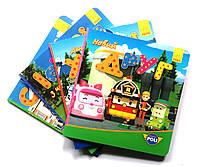 Комплект «Робокар Полі». 4 картонні книжки