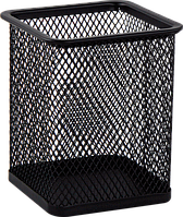 Підставка для ручок квадратна BUROMAX, чорна, 80х80х95ммBM.6201-01)