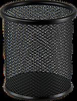 Підставка для ручок кругла 80х80х97мм, металева  чорна