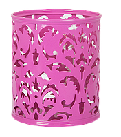 """Підставка для ручок BUROMAX """"Barocco"""", рожевий, 83х100 мм (BM.6204-10)"""