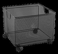 Ящик для підвісних файлів 380x365x265мм, металевий, чорний