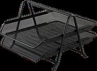 Лоток для паперів 2 в 1, 260х350х290мм, металевий, чорний