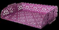 """Лоток горизонтальний """"Barocco"""" 320x250x7мм, металевий, рожевий"""