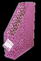 """Лоток вертикальний """"Barocco"""" 338x248x70мм, металевий, рожевий"""