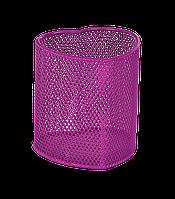 """Підставка для ручок """"серце"""" 90х90х100мм, металева, рожевий"""