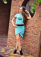 Женский костюм футболка с юбкой Danelly
