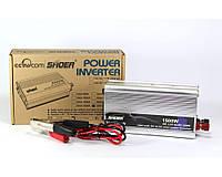 Преобразователь - инвертор Shoer 1500W 12-220V