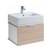 Kolo TWINS комплект: умыв-к с раковиной 50 см + шкафчик под умывальник, дуб arava/белый L59025000