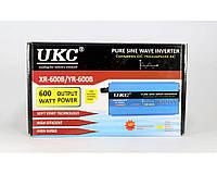 Преобразователь - инвертор синусоидный UKC 600W, 12-220V, 1200 Вт, защиту от короткого замыкания, защиту от перегрузки, звуковой сигна