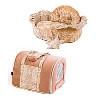 Сумка переноска и лежак для собак и котов Zoom Zoom Zoo Ajour бежевый girl