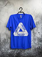Качественная футболка Palace Палас синяя (большой принт)