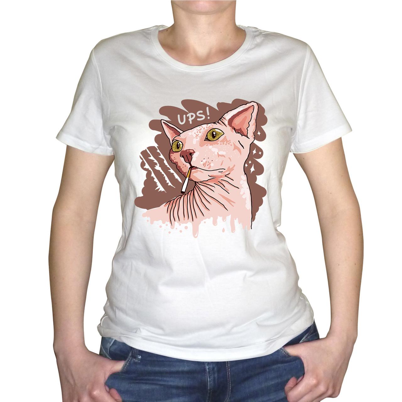 """Женская футболка """"Кот сфинкс"""""""