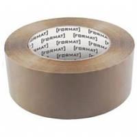 Стрічка клейка пакувальна 45 мм х 66 яр Format, коричнева
