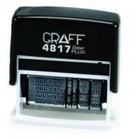 Датер з бухг. термінами GRAFF 4817Dat, пласт., 12 термінів, 3 мм, укр.,