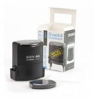 Оснастка автомат., GRAFF 44Oval HUMMER, пласт., для овального штампа 45х30 мм, чорна з футляром