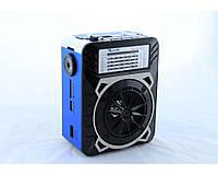 Радиоприемник RX 9122, фонарь LED, радио, сеть, аналоговый, аккумулятор/ AA-4 шт, портативная колонка