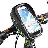 Велосумка для смартфона Rockbros нарульная с козырьком велосипедная сумка