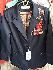 Женский пиджак с вышивкой большие размеры 48- 60
