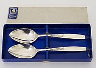 Две салатные сервировочные ложки, серебрение, Англия, SHEFFIELD, фото 1