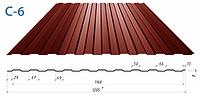 Профнастил стеновой С-15 AlZn (алюмоцинк)