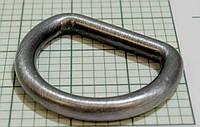 Полукольцо для сумок (Италия) металл, неразъемное (отполированное, темный никель)